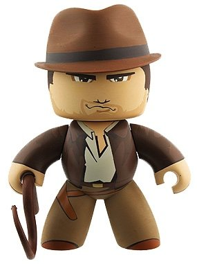 Indiana Jones figure, produced by Hasbro. Front view.
