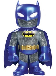 Batman Hikari Japanese Vinyl - Glitter Blue Batman figure by Dc Comics, produced by Funko. Front view.