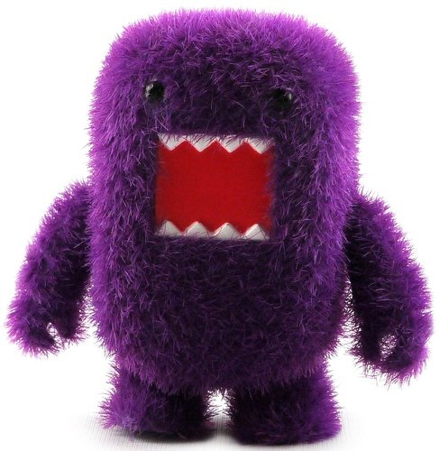 Purple Grass Domo Qee figure by Dark Horse Comics, produced by Toy2R. Front view.