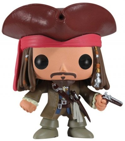 Jack Sparrow figure by Disney, produced by Funko. Front view.