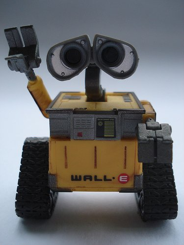 walle figure, produced by Disney. Front view.