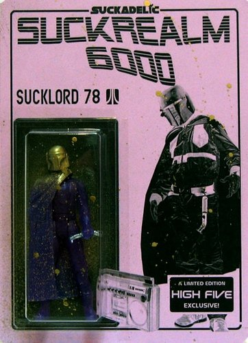 Sucklord 78 figure by Sucklord, produced by Suckadelic. Front view.