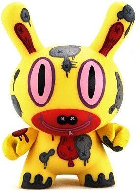 Baseman Dunny figure by Gary Baseman, produced by Kidrobot. Front view.