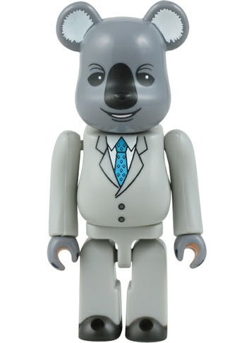 Mr. Koala Be@rbrick 100% figure, produced by Medicom Toy. Front view.