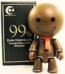 Dark Chocolate Ginger BalleeQ figure by Toy2R, produced by Toy2R And Kidrobot. Front view.
