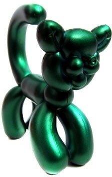 Green Cat figure, produced by Kidrobot. Front view.