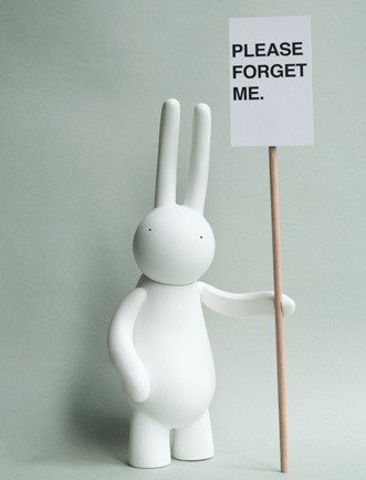 Petit Lapin - Please Forget Me  figure by Mr. Clement. Front view.