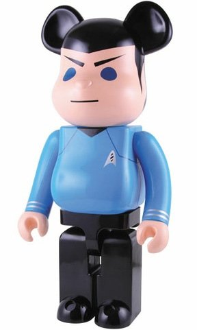 Star Trek Spock Be@rbrick 1000% figure, produced by Medicom Toy. Front view.