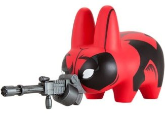 Deadpool Labbit figure by Marvel, produced by Kidrobot. Front view.