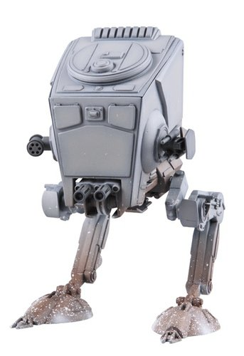 Imperial AT-ST Scout Walker figure by Lucasfilm Ltd., produced by Medicom Toy. Front view.