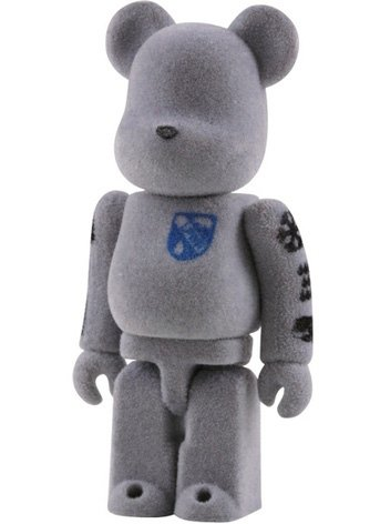 Loopwheeler Be@rbrick 100% figure by Loopwheeler, produced by Medicom Toy. Front view.
