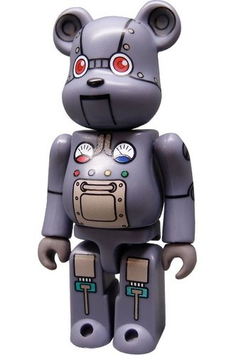 SF Be@rbrick Series 1   figure by Hiroto Komoto, produced by Medicom Toy. Front view.