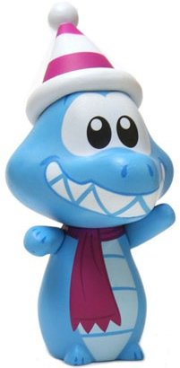 Ice Gator figure by Casey Jones, produced by Disney. Front view.