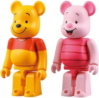 Winnie the Pooh & Piglet - 2PACK Set figure by A. A. Milne, produced by Medicom Toy. Front view.