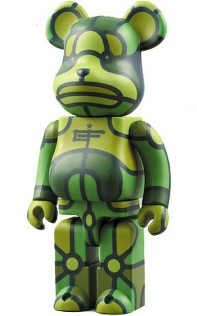 X-LARGE x Flores Be@rbrick - 400% figure by David Flores, produced by Medicom Toy. Front view.