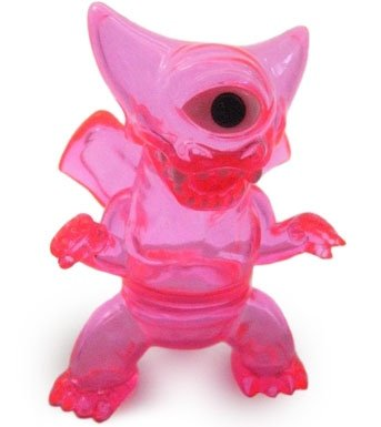 Crouching Deathra - Clear Pink figure by Gargamel, produced by Gargamel. Front view.