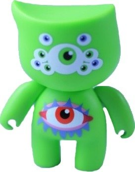 Eyes figure by Jats Gill, produced by Bitbots Toys Limited. Front view.