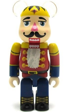 Nutcracker Be@rbrick 100% figure by Dr. Romanelli, produced by Medicom Toy. Front view.