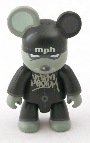 Mini Vandal Bear figure by Urban Medium, produced by Toy2R. Front view.