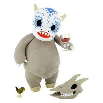 El Chupacabra - Ghost Edition figure by Sara Antoinette Martin, produced by Kidrobot. Front view.
