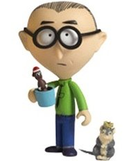 Mr. Mackey figure by Matt Stone & Trey Parker, produced by Kidrobot. Front view.