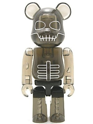 Skullhead Joe - Secret Animal Be@rbrick figure by Pushead, produced by Medicom Toy. Front view.