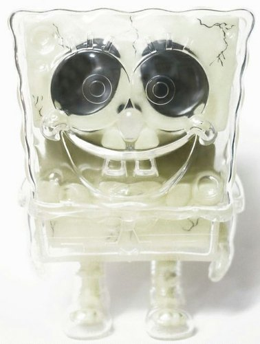 SpongeBob SquarePants - All Skelet figure by Stephen Hillenburg, produced by Secret Base. Front view.