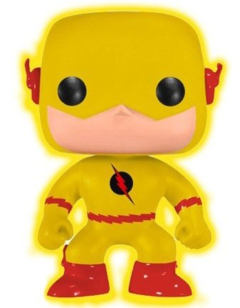 Reverse-Flash GID - Dallas Comic Con Exclusive figure by Dc Comics, produced by Funko. Front view.