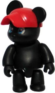 Black Bear figure by Steven Lee, produced by Toy2R. Front view.