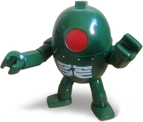 Robot Nine - Forest Green figure by Rumble Monsters, produced by Rumble Monsters. Front view.