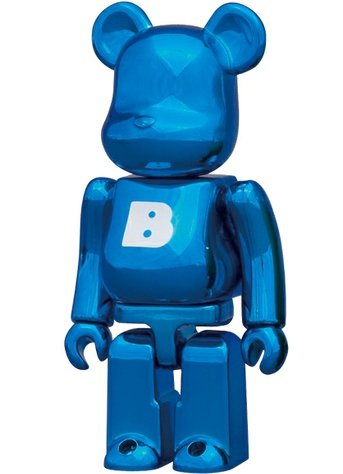 Basic Be@rbrick Series 23 - B figure, produced by Medicom Toy. Front view.