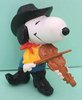 Snoopy cowboy with violin