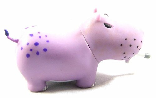 Very Berry Potamus figure by Frank Kozik, produced by Toy2R. Front view.