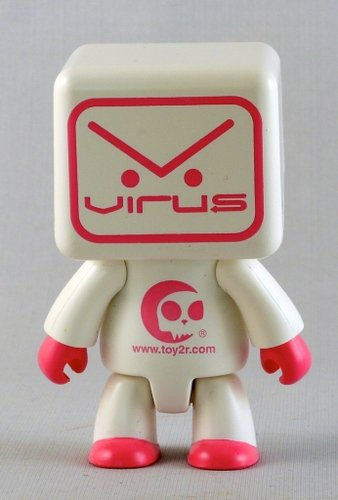 Virus White figure by Virus Marketing, produced by Toy2R. Front view.