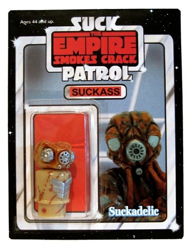 Suckass (The Empire Smokes Crack) figure by Sucklord. Front view.