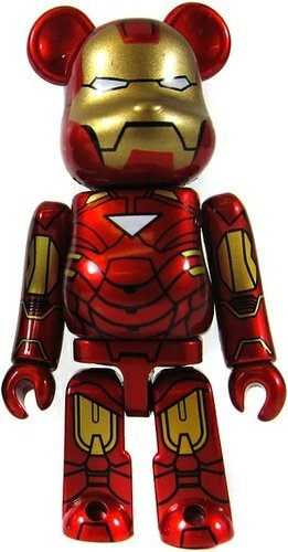 Ironman Mark VI - SF Be@rbrick Series 20 figure, produced by Medicom Toy. Front view.