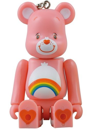 Care Bears - Cheer Bear - Be@rbrick 100% figure, produced by Medicom Toy. Front view.