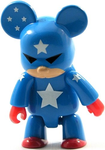Captain America figure by Toy2R, produced by Toy2R. Front view.