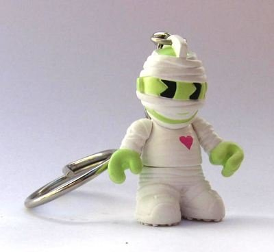 Mummy figure by Kidrobot, produced by Kidrobot. Front view.