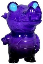 Pocket Mummy Gator - Translucent Purple figure by Brian Flynn, produced by Super7. Front view.