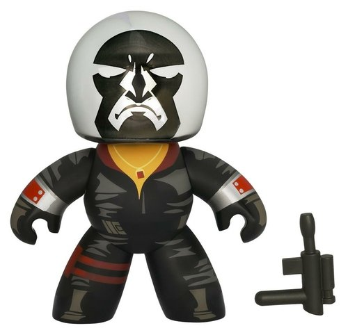 Destro figure, produced by Hasbro. Front view.
