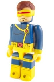 Cyclops Kubrick figure by Marvel, produced by Medicom Toy. Front view.