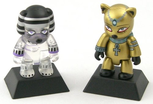 Egypt Cat & Pharaoh Dog (Clear Dog Version) figure by Anna Puchalski, produced by Toy2R. Front view.