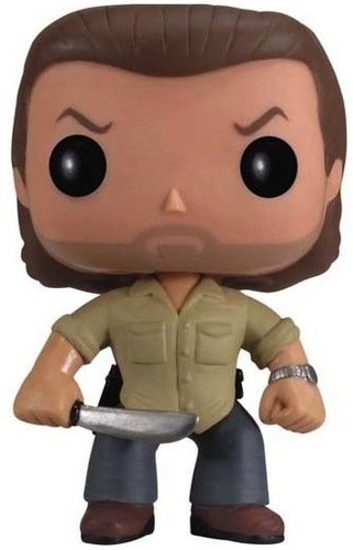 Rick Grimes (Prison Yard) figure by Funko, produced by Funko. Front view.