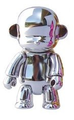 Metallic Monqee Silver figure, produced by Toy2R. Front view.