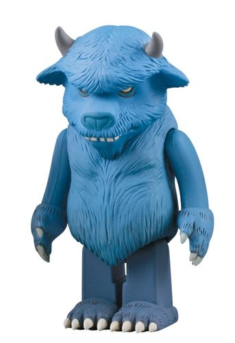 Bull figure by Maurice Sendak, produced by Medicom Toy. Front view.