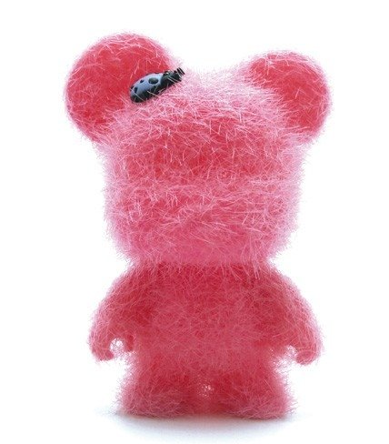 Love Pink Bear  figure by Toy2R, produced by Toy2R. Front view.