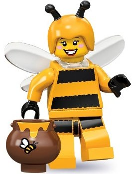 Bumblebee Girl figure by Lego, produced by Lego. Front view.