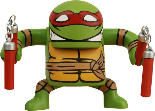 Michaelangelo figure, produced by Neca. Front view.