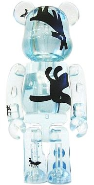 Nike [co]+LAB Be@rbrick 100% figure by Kuntzel + Deygas, produced by Medicom Toy. Front view.